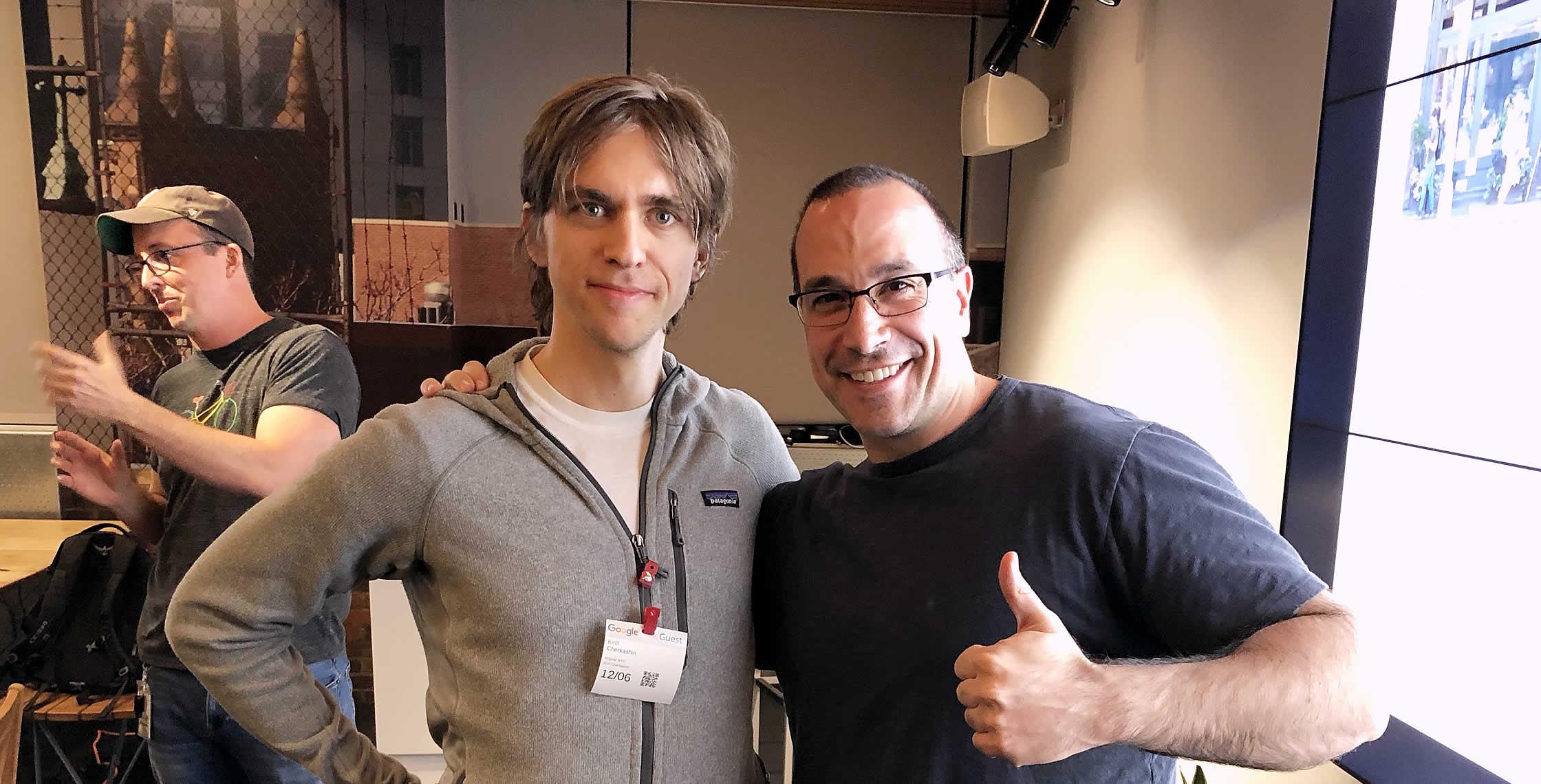 Ben Nadel at the Angular NYC Meetup (Dec. 2018) with: Kirill Cherkashin