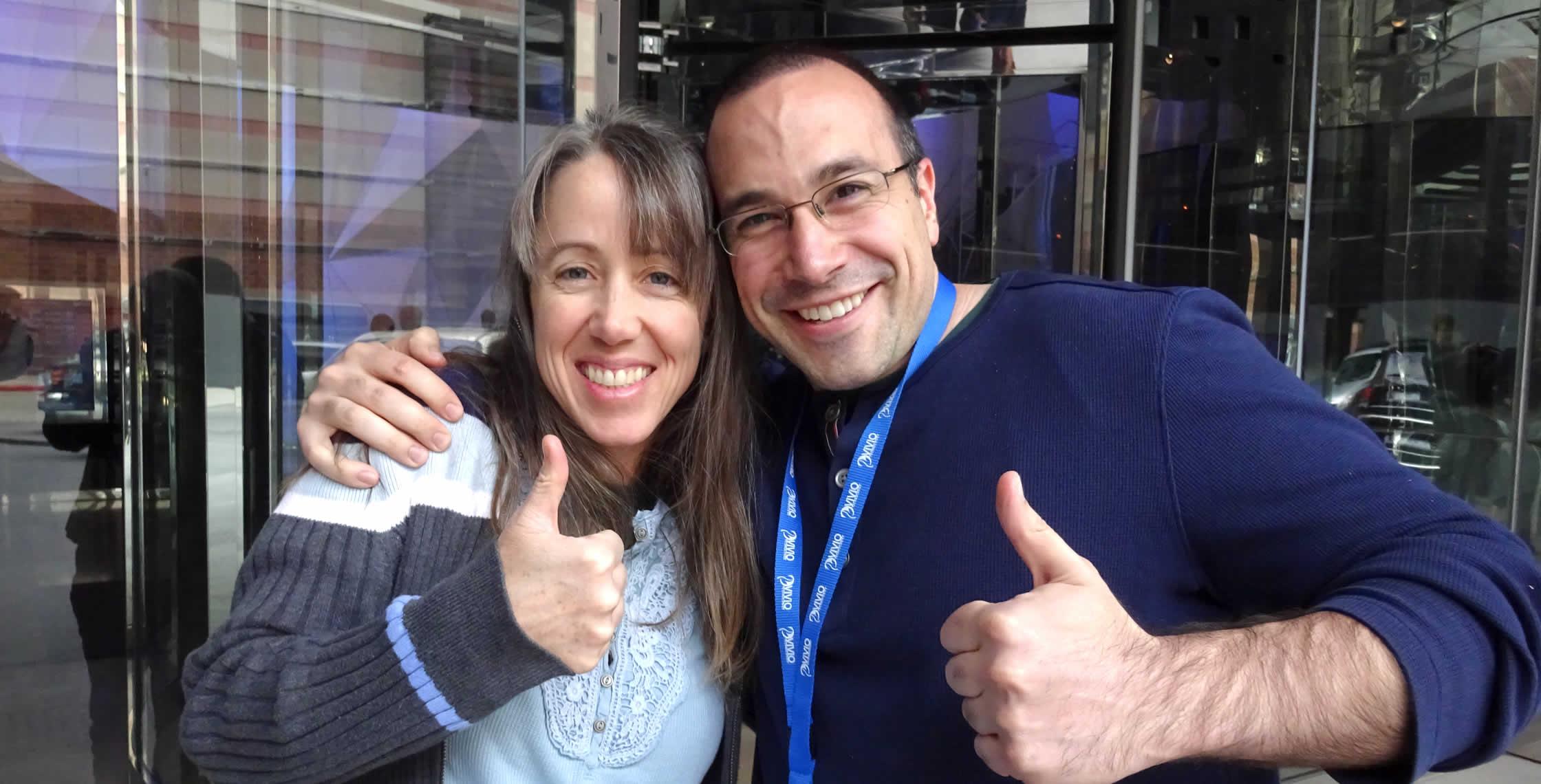 Ben Nadel at cf.Objective() 2014 (Bloomington, MN) with: Kitt Hodsden