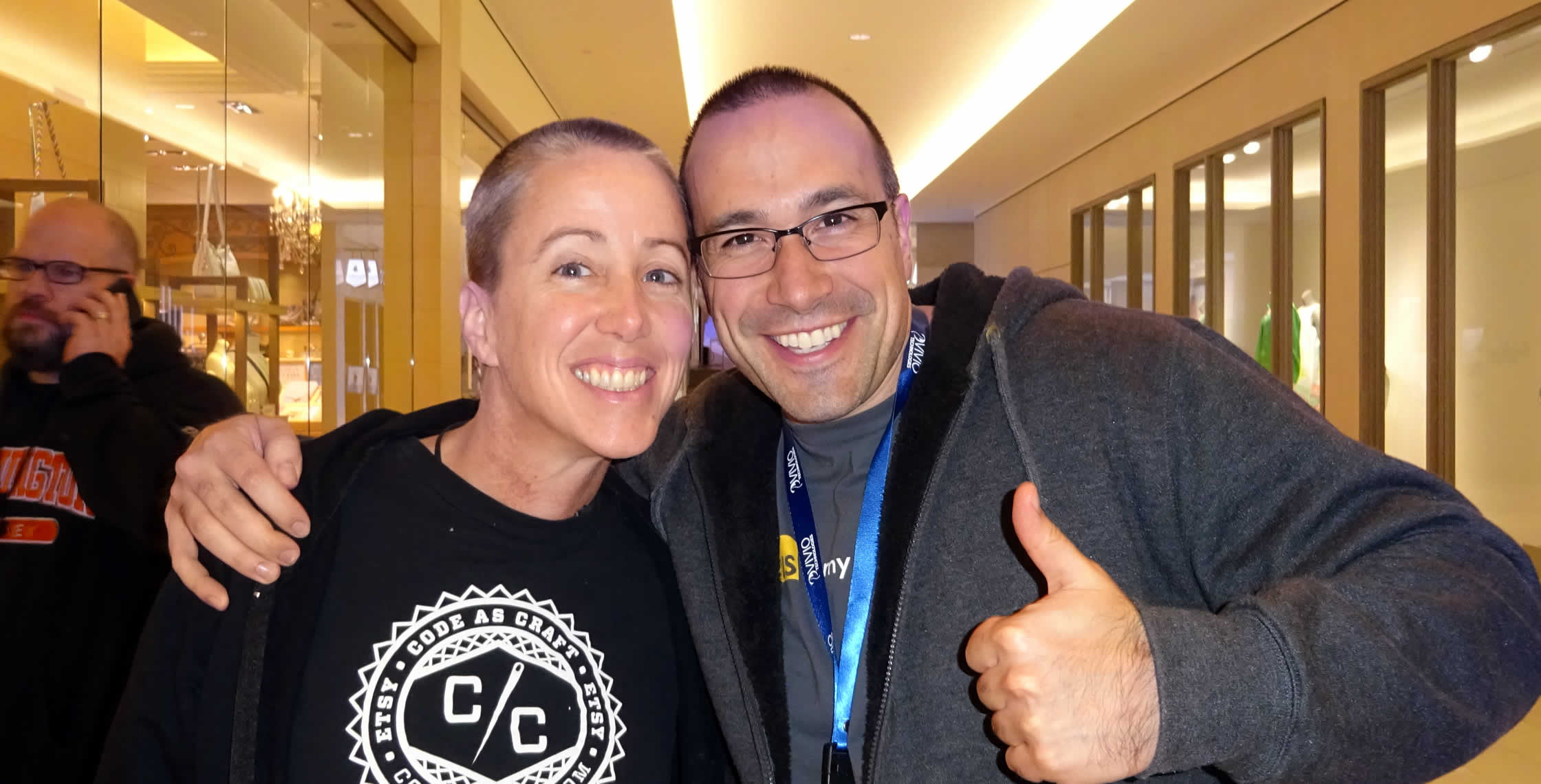 Ben Nadel at dev.Objective() 2015 (Bloomington, MN) with: Kitt Hodsden