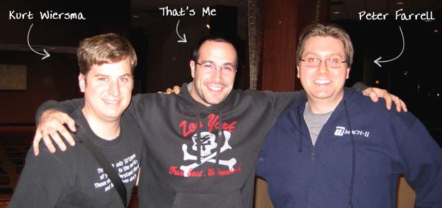 Ben Nadel at cf.Objective() 2009 (Minneapolis, MN) with: Kurt Wiersma and Peter Farrell