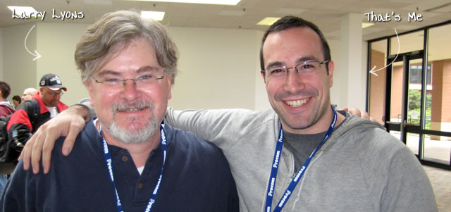 Ben Nadel at CFinNC 2009 (Raleigh, North Carolina) with: Larry Lyons
