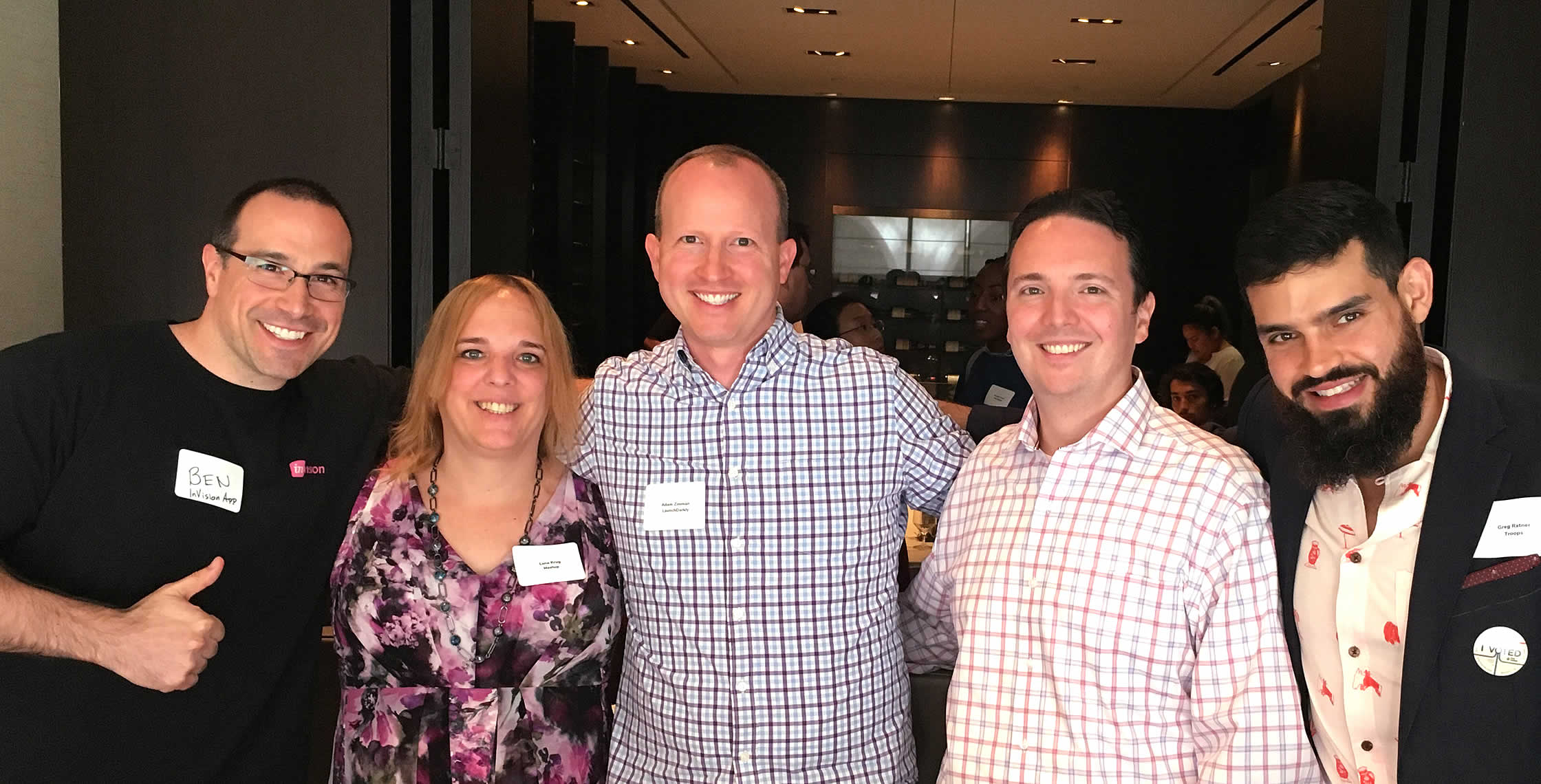 Ben Nadel at LaunchDarkly Lunch & Learn 2018 (New York, NY) with: Lena Krug, Adam Zimman, Christopher Cosentino, and Greg Ratner