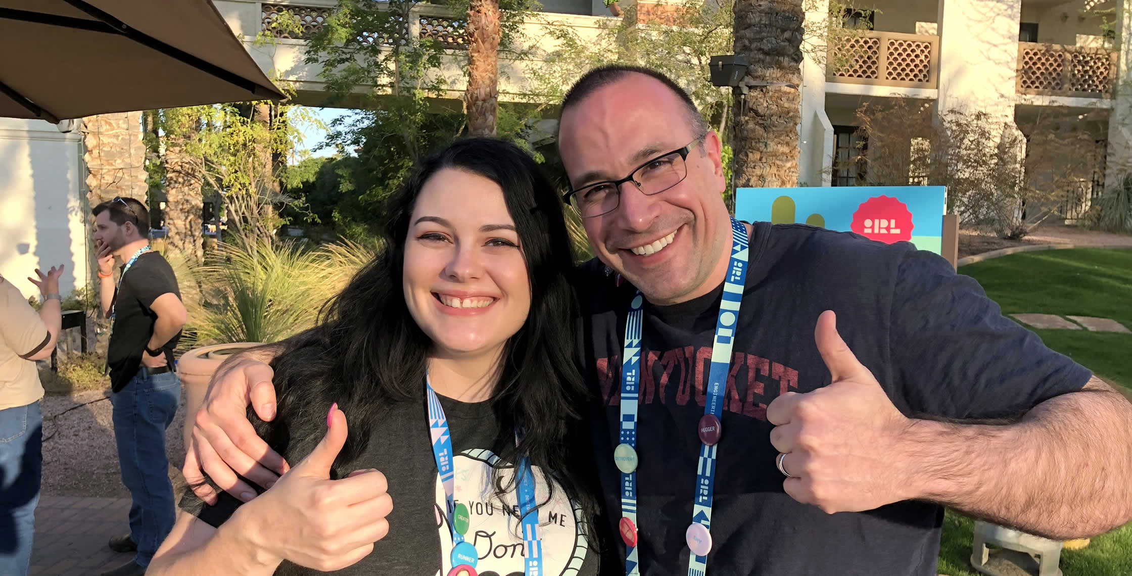 Ben Nadel at InVision In Real Life (IRL) 2019 (Phoenix, AZ) with: Lindsey Redinger