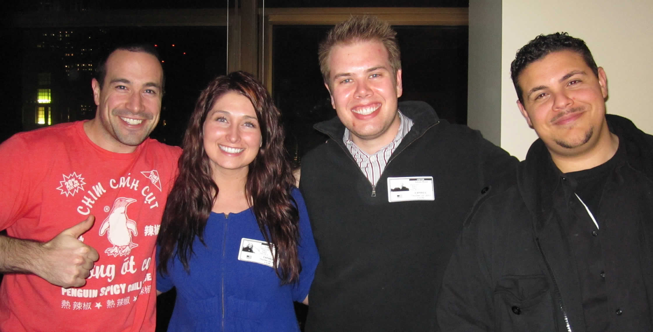 Ben Nadel at InVision Office 2011 (New York City) with: Lindsey Root, Adam Root, and Clark Valberg