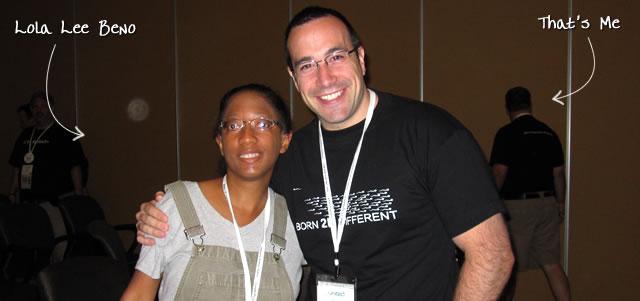 Ben Nadel at CFUNITED 2010 (Landsdown, VA) with: Lola Lee Beno