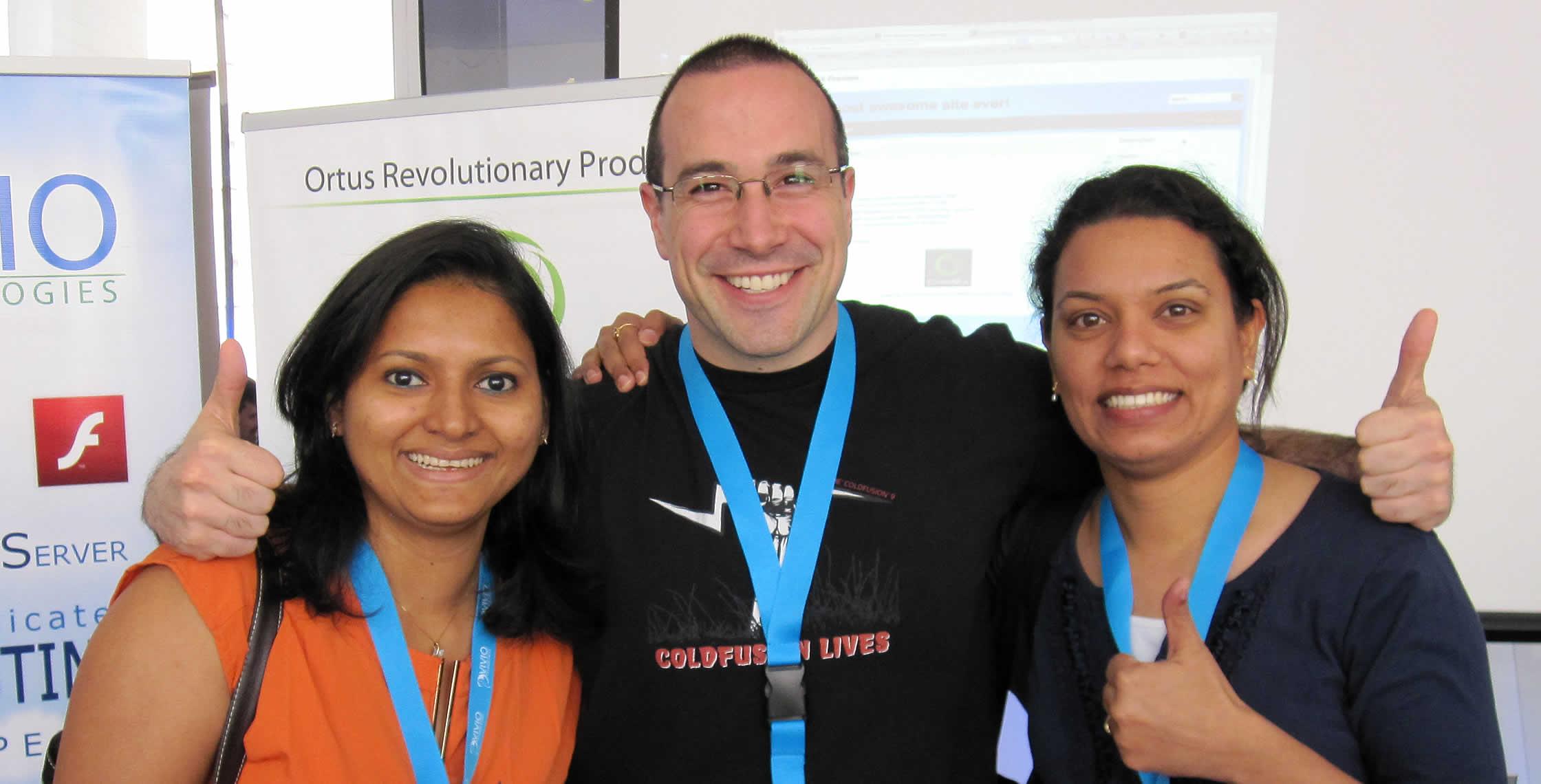 Ben Nadel at cf.Objective() 2013 (Bloomington, MN) with: Loveena Dsouza and Ritika Chowdhary