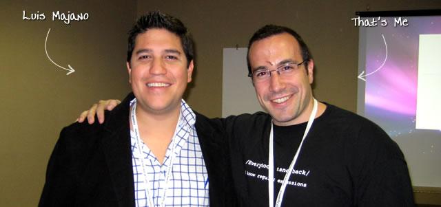 Ben Nadel at CFUNITED 2009 (Lansdowne, VA) with: Luis Majano