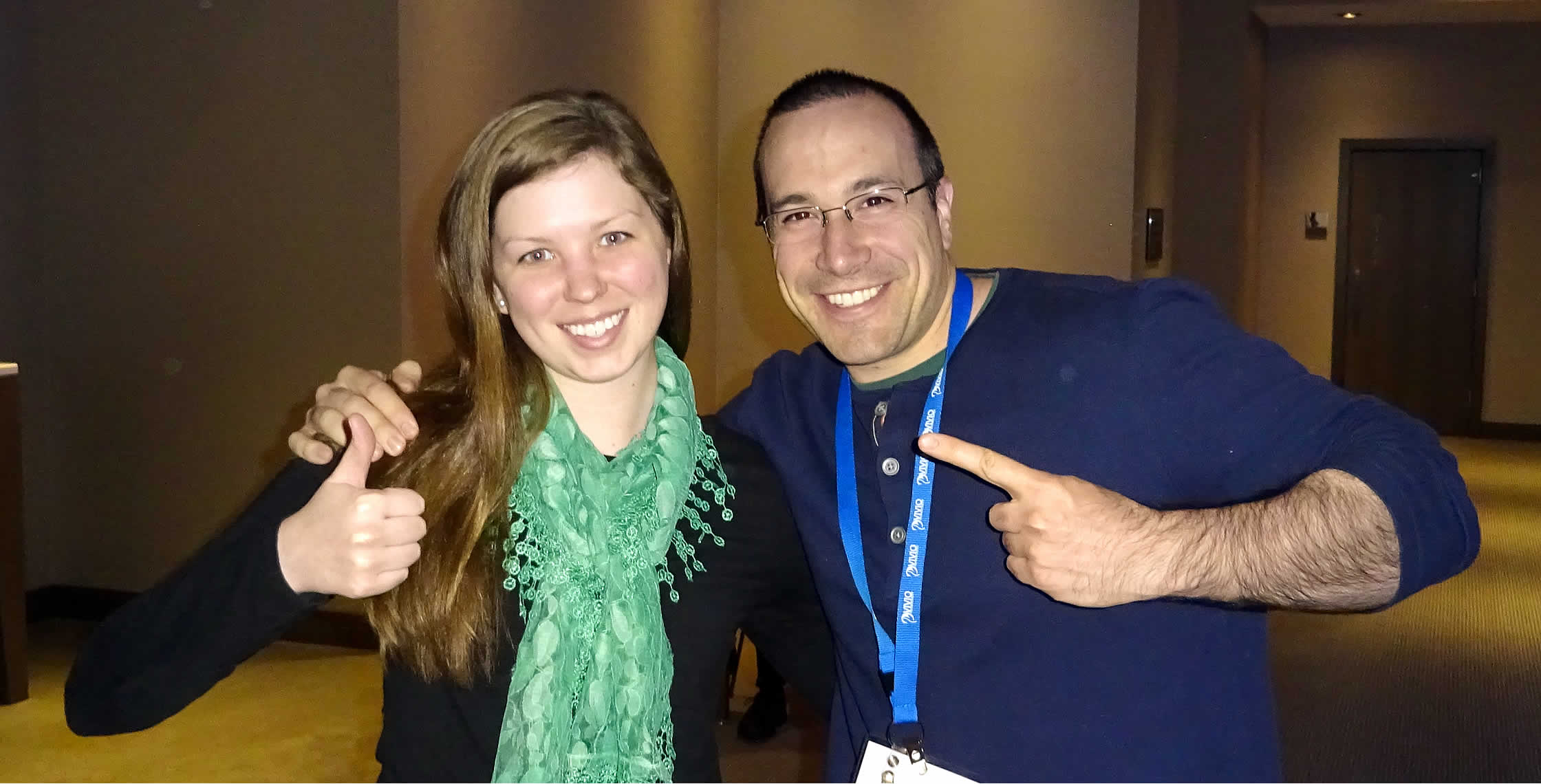 Ben Nadel at cf.Objective() 2014 (Bloomington, MN) with: Madeline Johnsen