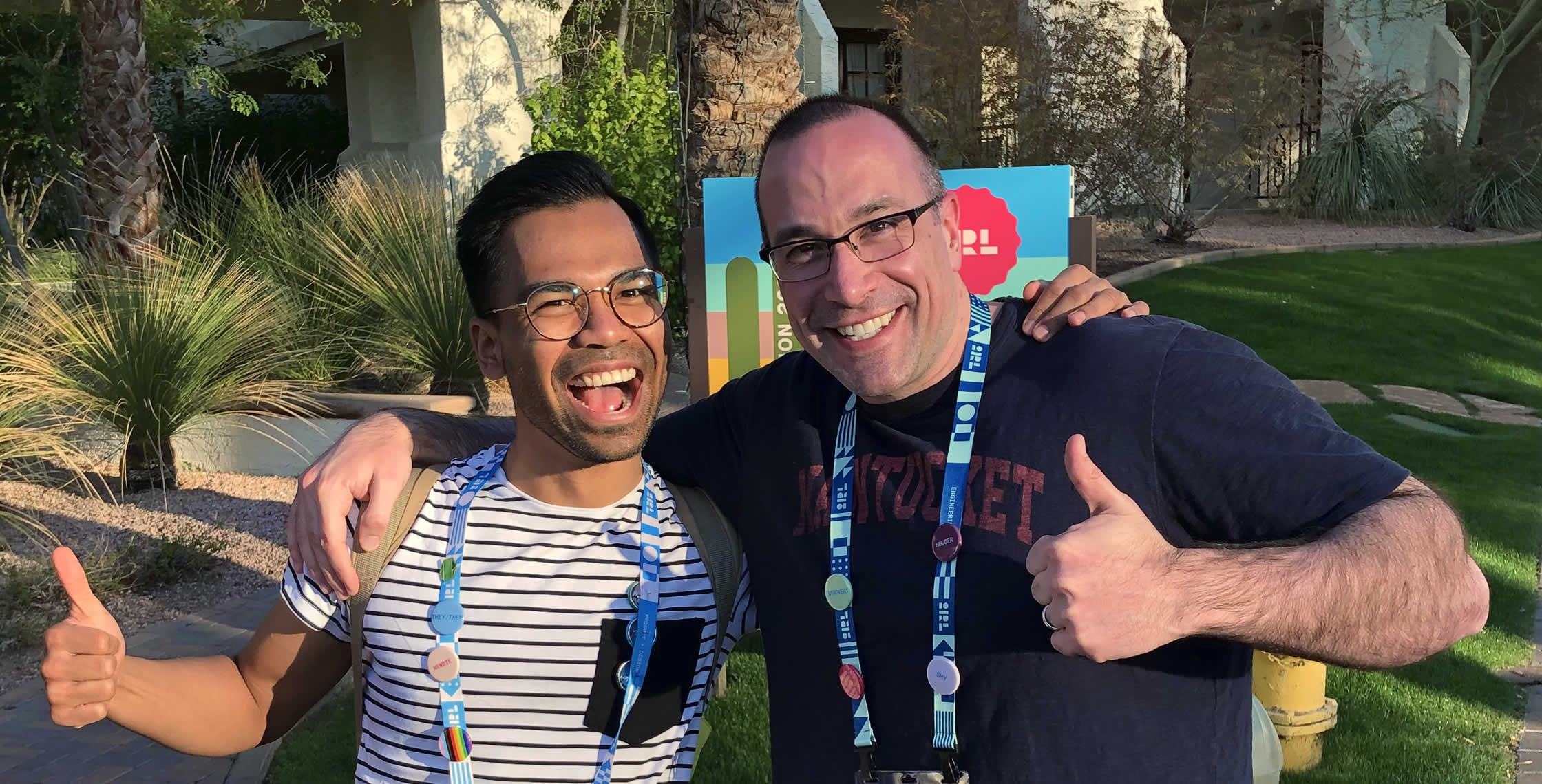 Ben Nadel at InVision In Real Life (IRL) 2019 (Phoenix, AZ) with: Manil Chowdhury