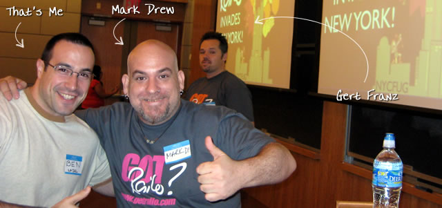 Ben Nadel at the New York ColdFusion User Group (May. 2009) with: Mark Drew and Gert Franz