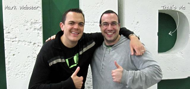 Ben Nadel at TechCrunch Disrupt (New York, NY) with: Mark C. Webster