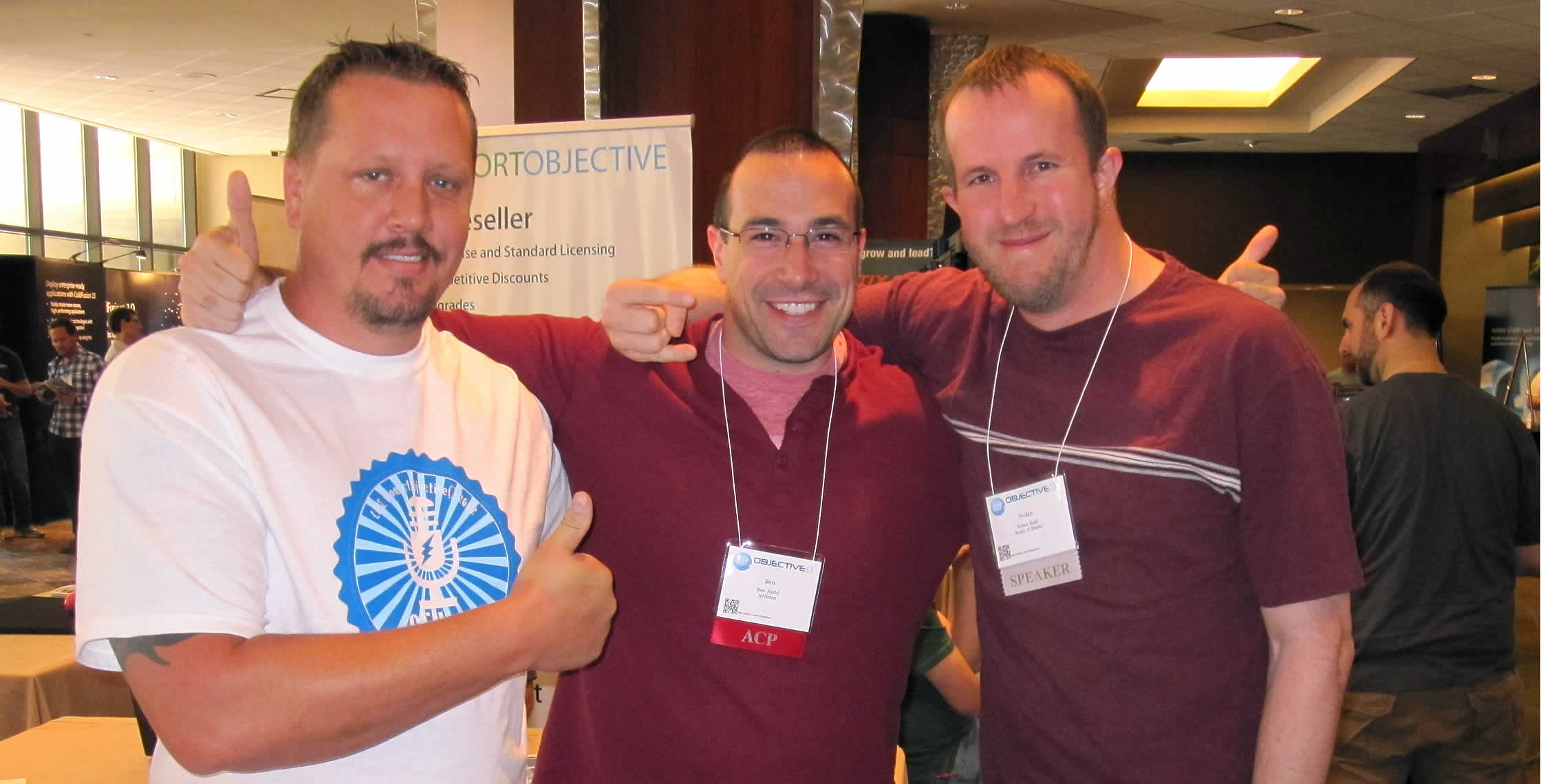 Ben Nadel at cf.Objective() 2012 (Minneapolis, MN) with: Matt Graf and Nolan Erck