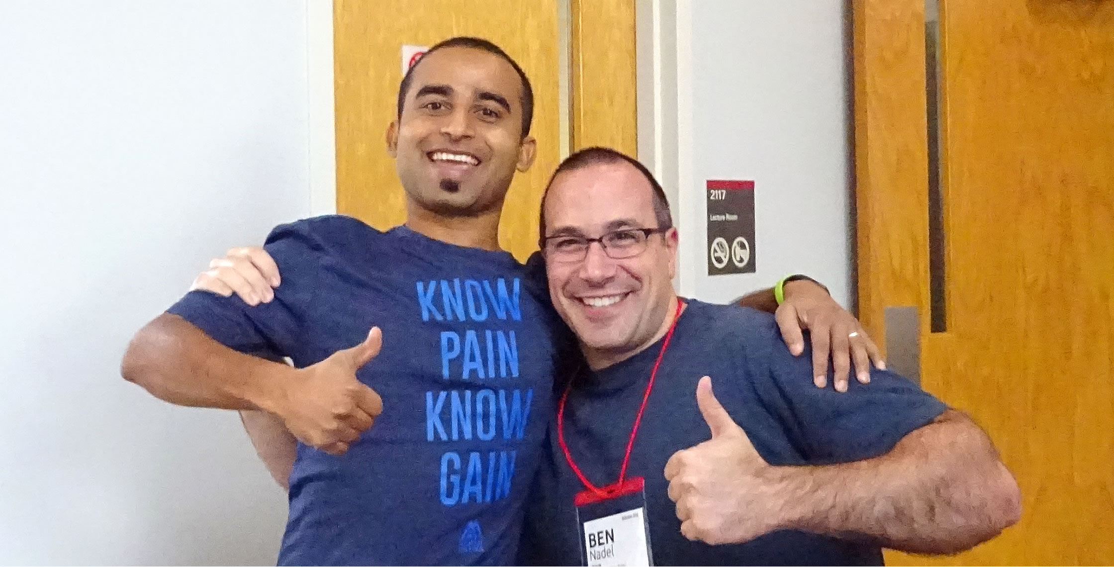 Ben Nadel at NCDevCon 2016 (Raleigh, NC) with: MD Khan
