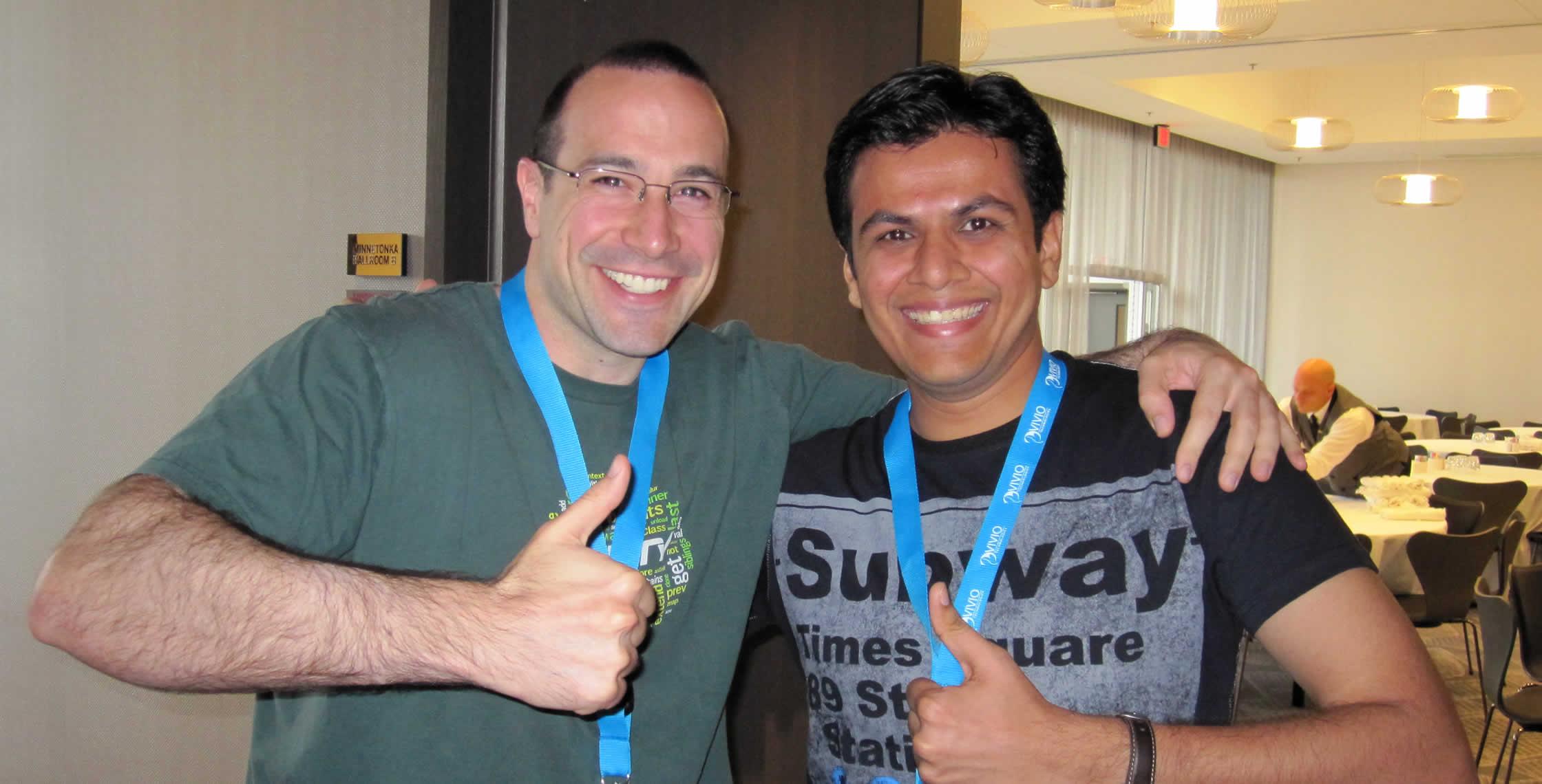 Ben Nadel at cf.Objective() 2013 (Bloomington, MN) with: Mehul Saiya