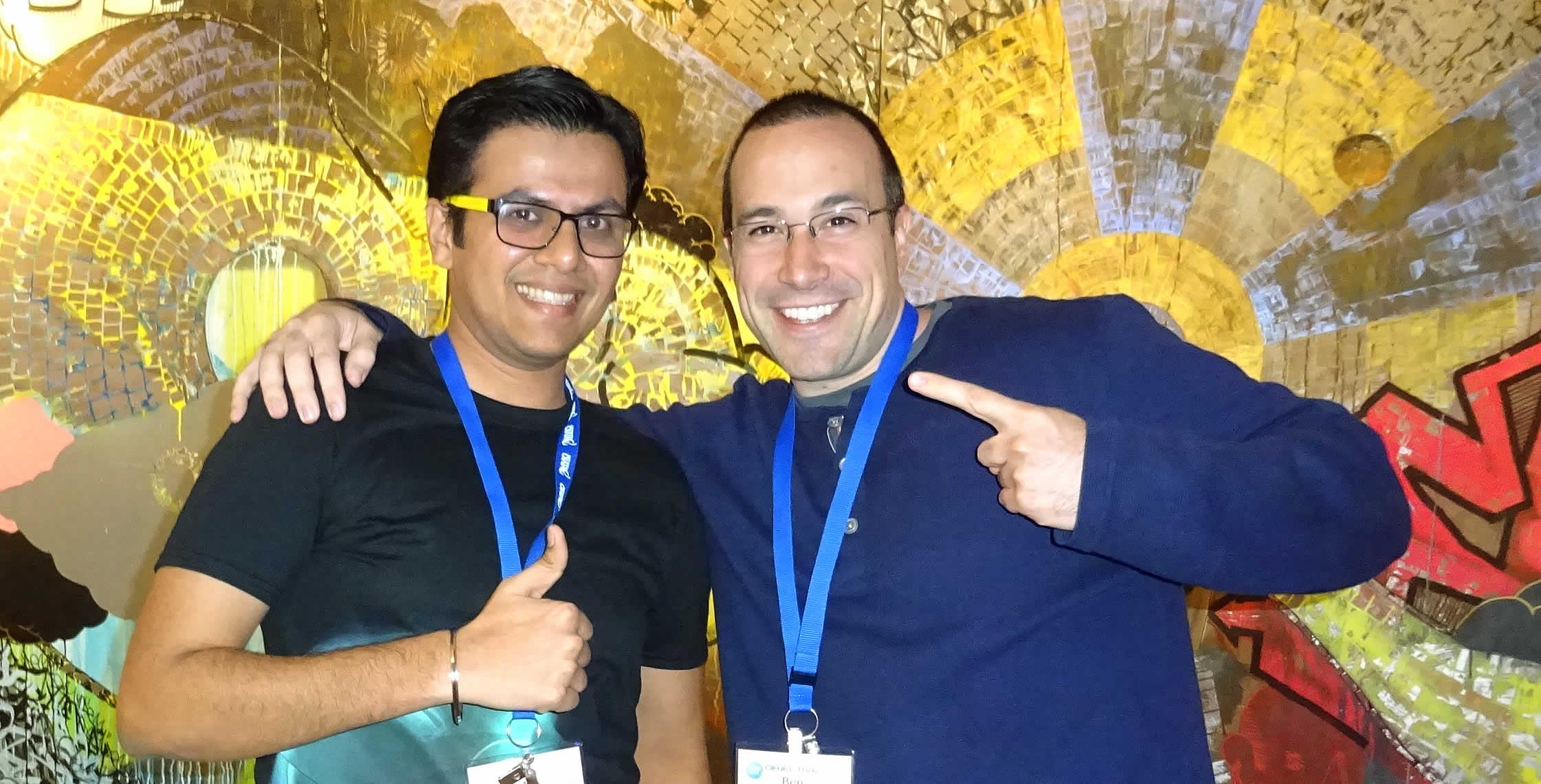 Ben Nadel at cf.Objective() 2014 (Bloomington, MN) with: Mehul Saiya