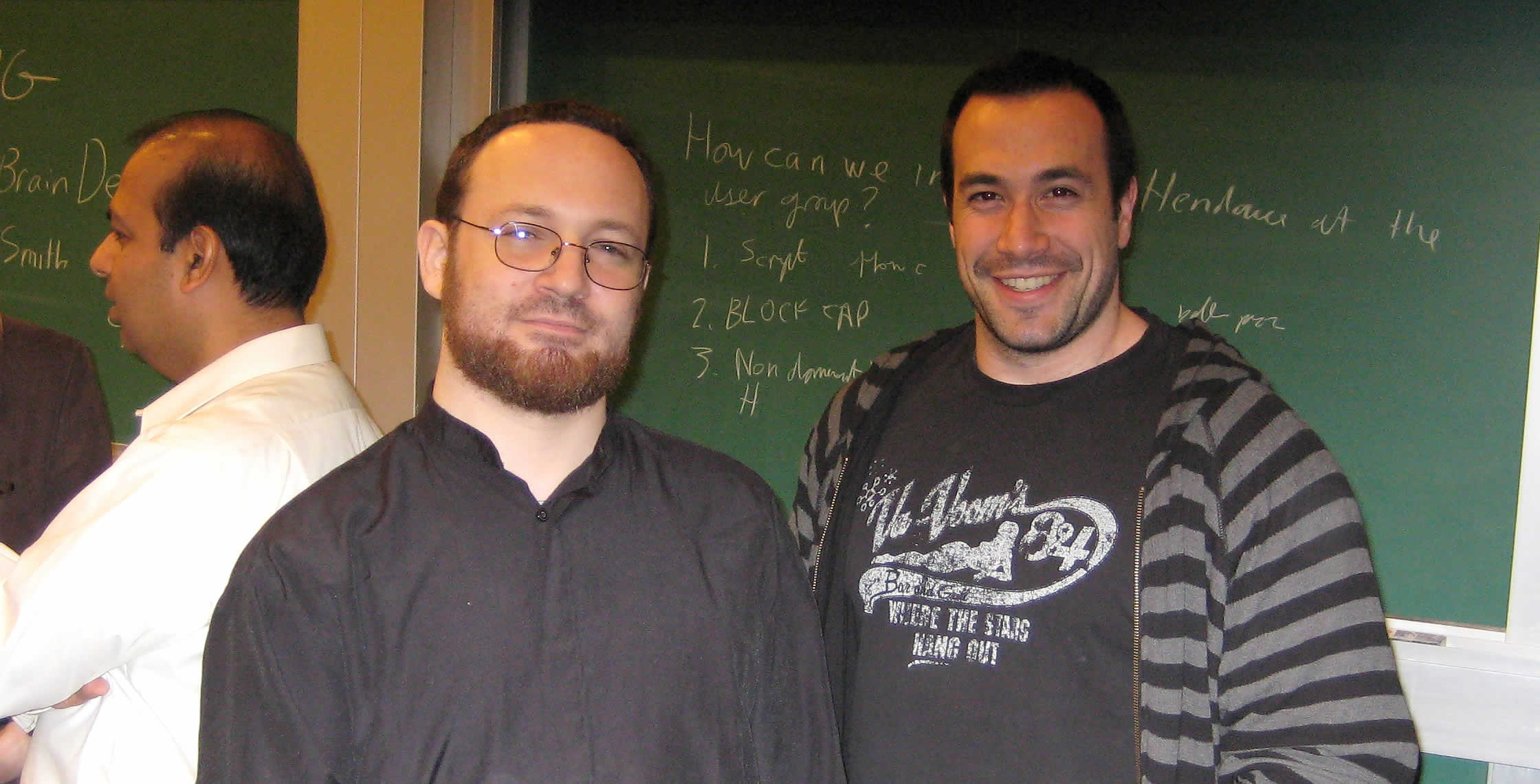 Ben Nadel at the New York ColdFusion User Group (May. 2008) with: Michael Dinowitz