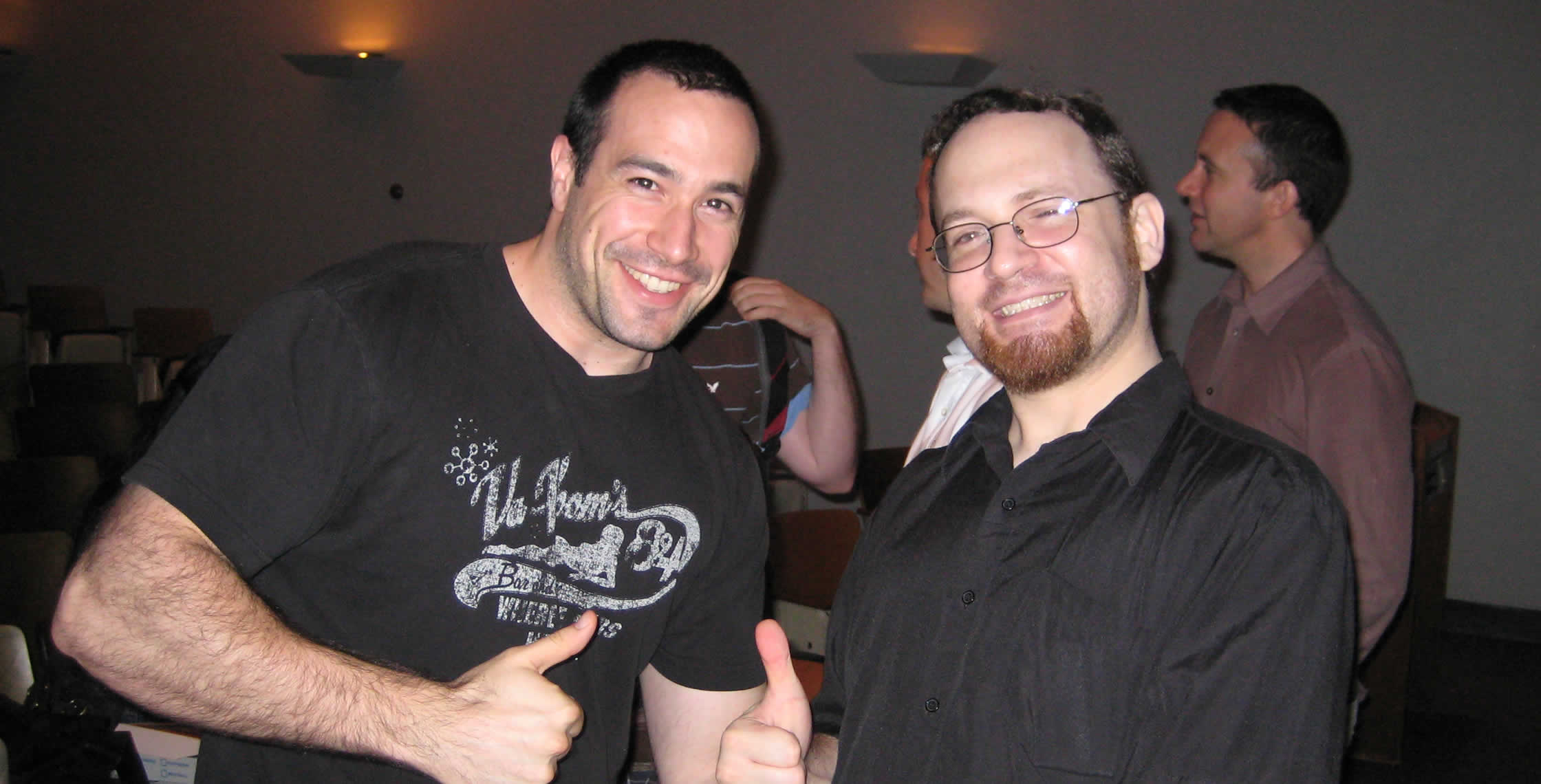 Ben Nadel at the New York ColdFusion User Group (Jul. 2008) with: Michael Dinowitz