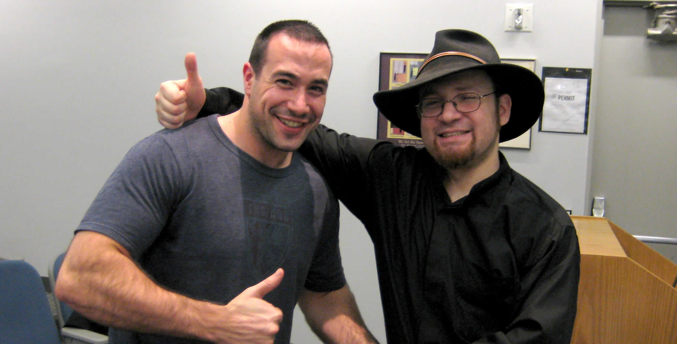 Ben Nadel at the New York ColdFusion User Group (Dec. 2008) with: Michael Dinowitz