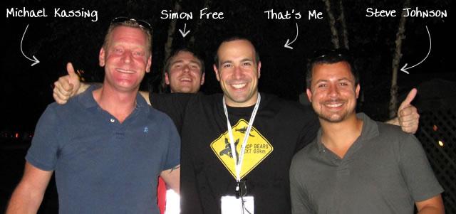 Ben Nadel at CFUNITED 2010 (Landsdown, VA) with: Michael Kassing, Simon Free, and Steve Johnson