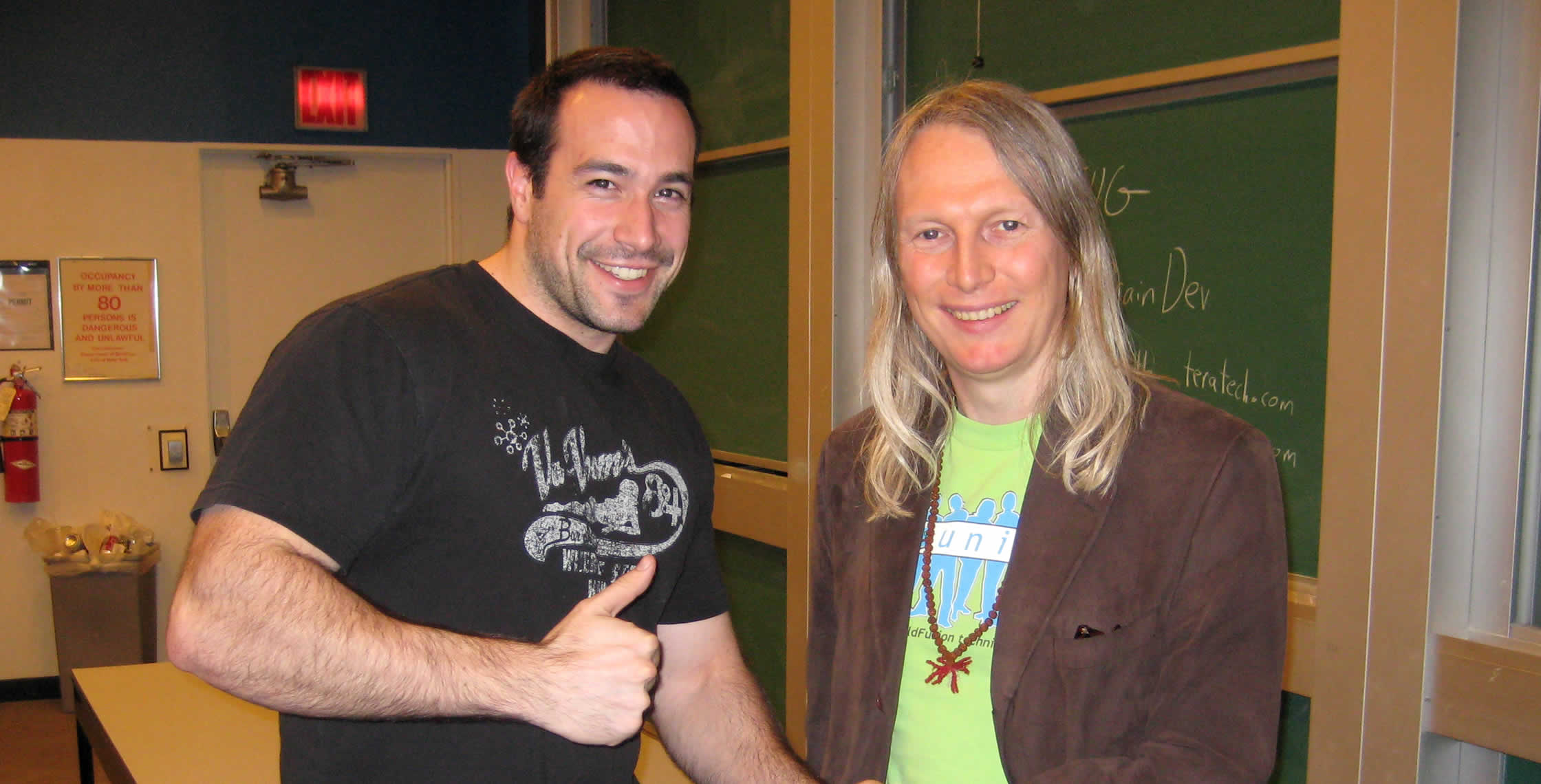 Ben Nadel at the New York ColdFusion User Group (May. 2008) with: Michael Smith