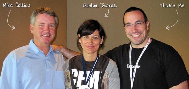 Ben Nadel at CFUNITED 2010 (Landsdown, VA) with: Mike Collins and Elishia Dvorak