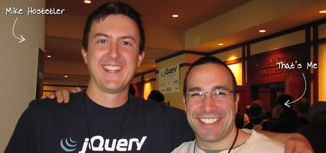 Ben Nadel at the jQuery Conference 2010 (Boston, MA) with: Mike Hostetler