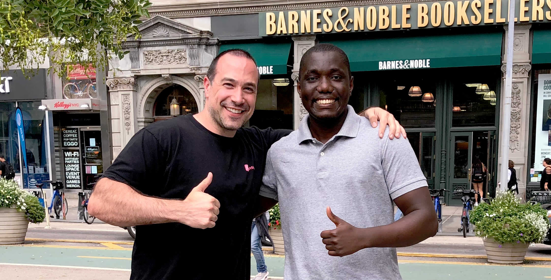 Ben Nadel at Union Square (New York, NY) with: Mohamed Keita