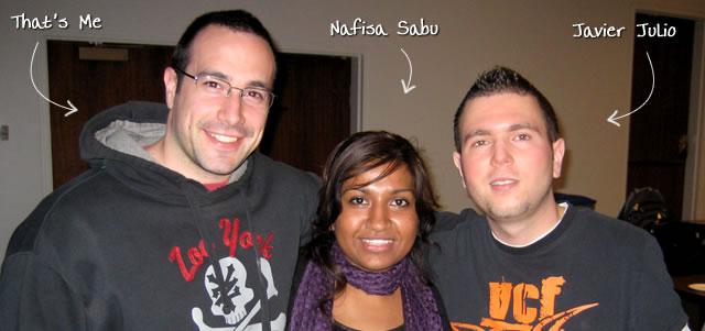 Ben Nadel at CFUNITED Express NYC (Apr. 2009) with: Nafisa Sabu and Javier Julio