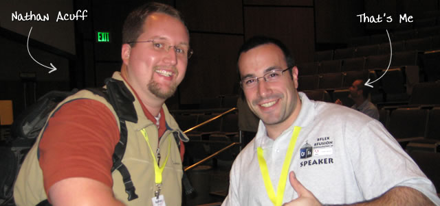Ben Nadel at BFusion / BFLEX 2009 (Bloomington, Indiana) with: Nathan Acuff