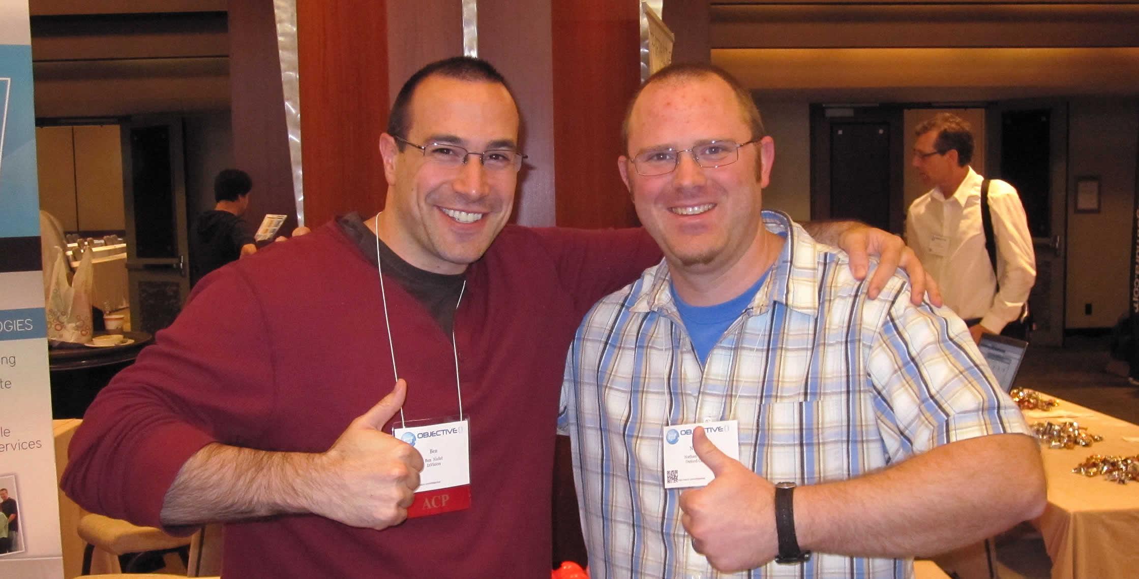 Ben Nadel at cf.Objective() 2012 (Minneapolis, MN) with: Nathan DeJong