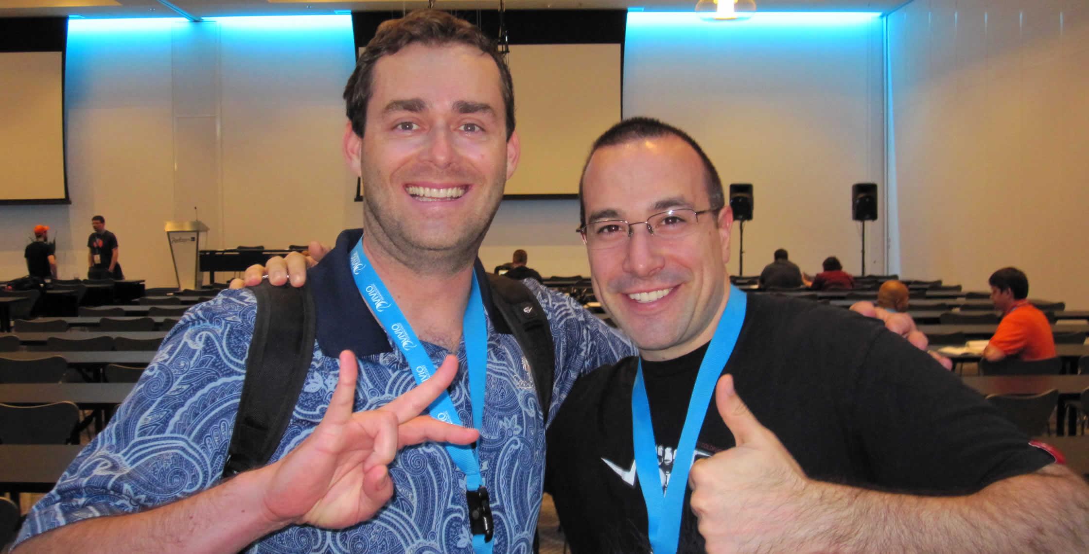 Ben Nadel at cf.Objective() 2013 (Bloomington, MN) with: Nathan Deneau
