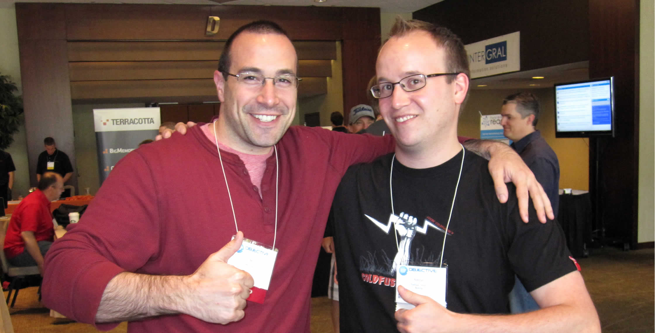 Ben Nadel at cf.Objective() 2012 (Minneapolis, MN) with: Nathan Strutz