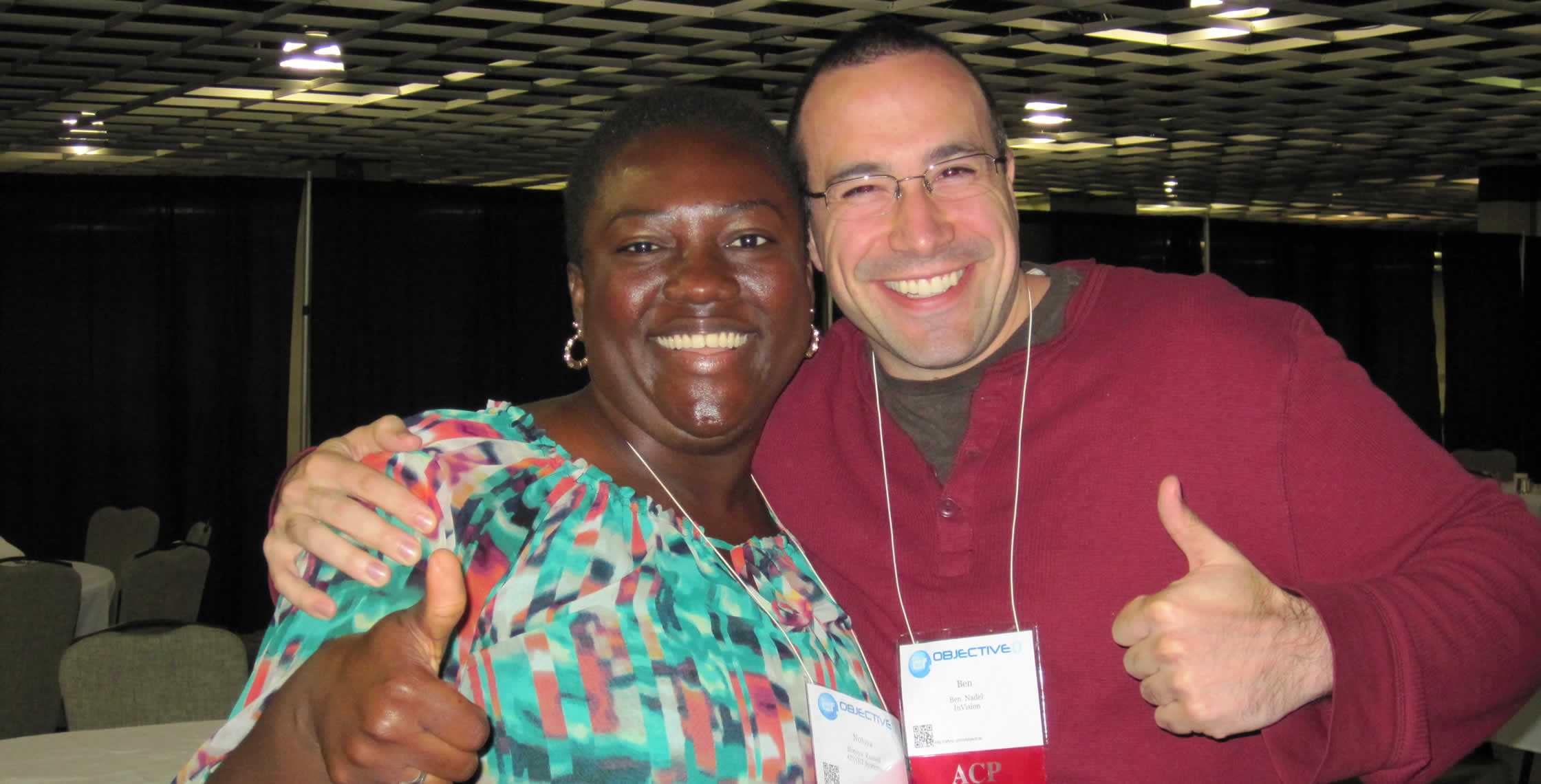 Ben Nadel at cf.Objective() 2012 (Minneapolis, MN) with: Notoya Russell
