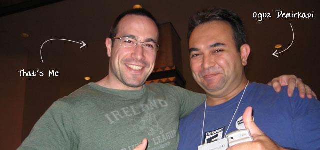 Ben Nadel at cf.Objective() 2009 (Minneapolis, MN) with: Oguz Demirkapi