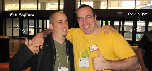 Ben Nadel at cf.Objective() 2010 (Minneapolis, MN) with: Pat Santora