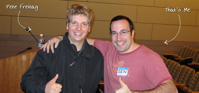 Ben Nadel at the New York ColdFusion User Group (Nov. 2009) with: Pete Freitag