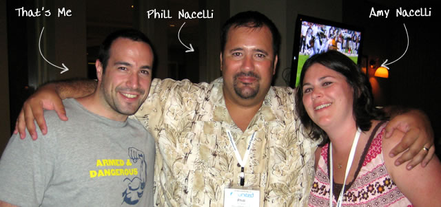 Ben Nadel at CFUNITED 2009 (Lansdowne, VA) with: Phill Nacelli and Amy Nacelli