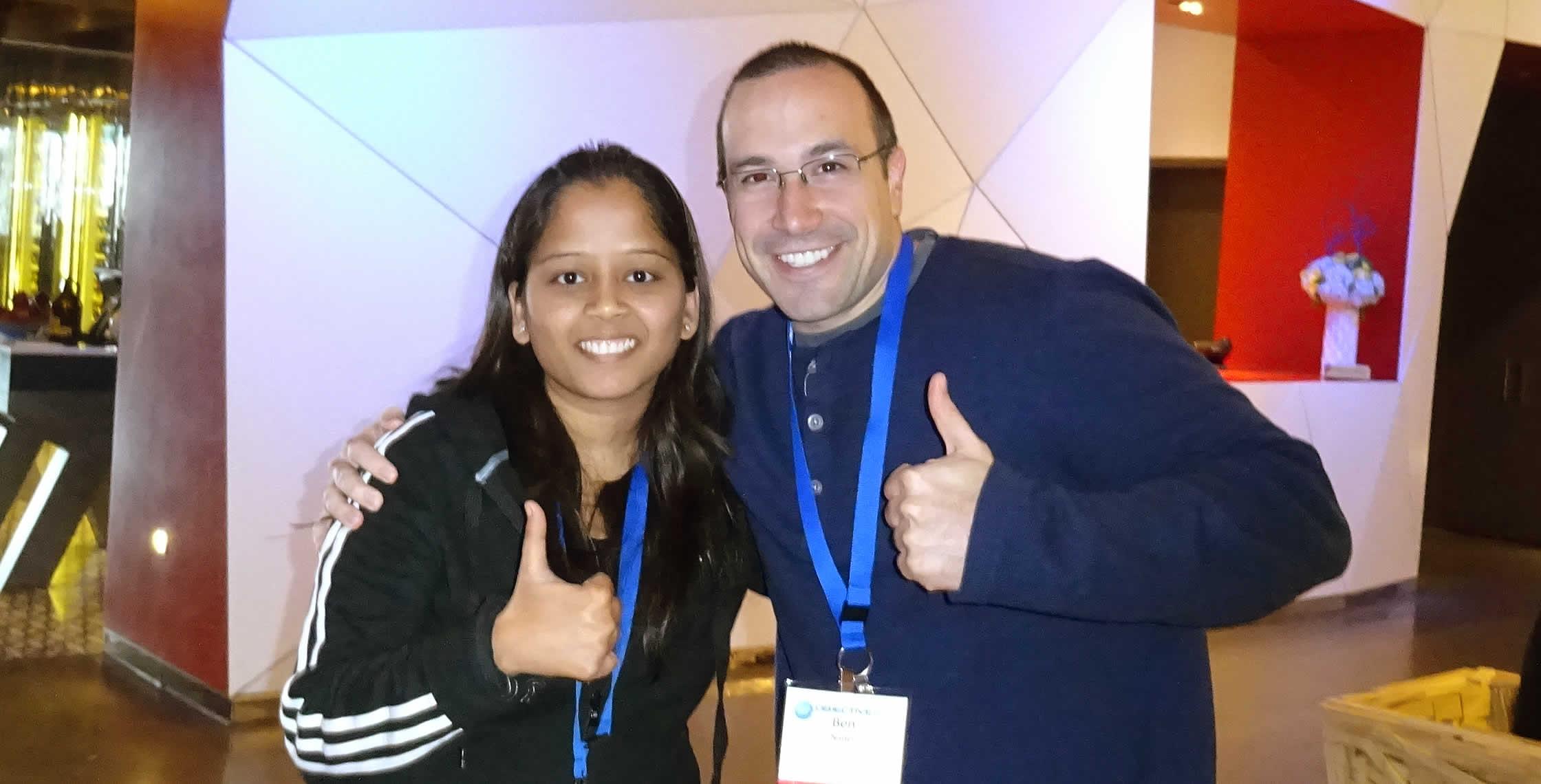 Ben Nadel at cf.Objective() 2014 (Bloomington, MN) with: Pradnya Kambli
