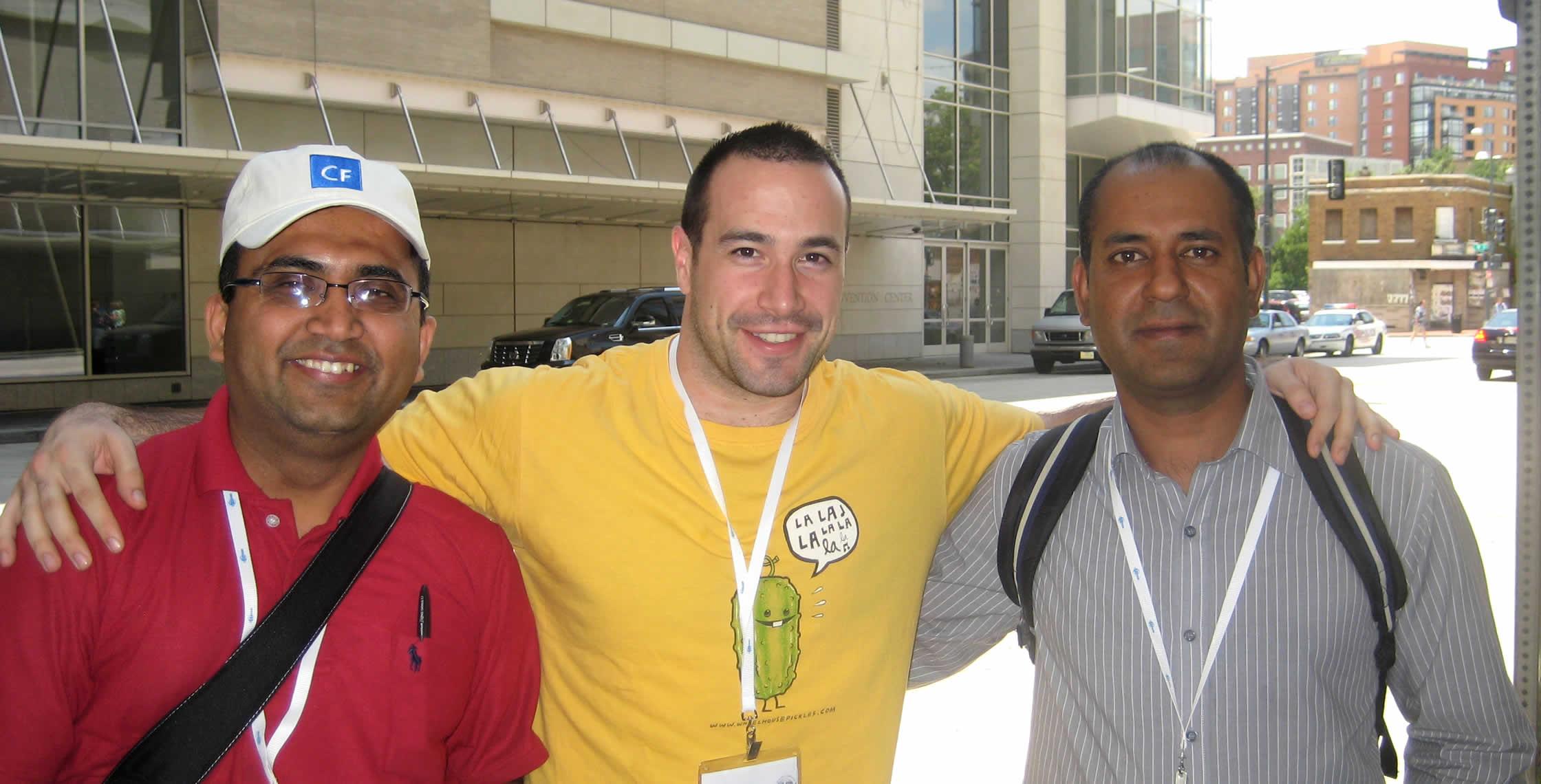 Ben Nadel at CFUNITED 2008 (Washington, D.C.) with: Qasim Rasheed and Sana Ullah