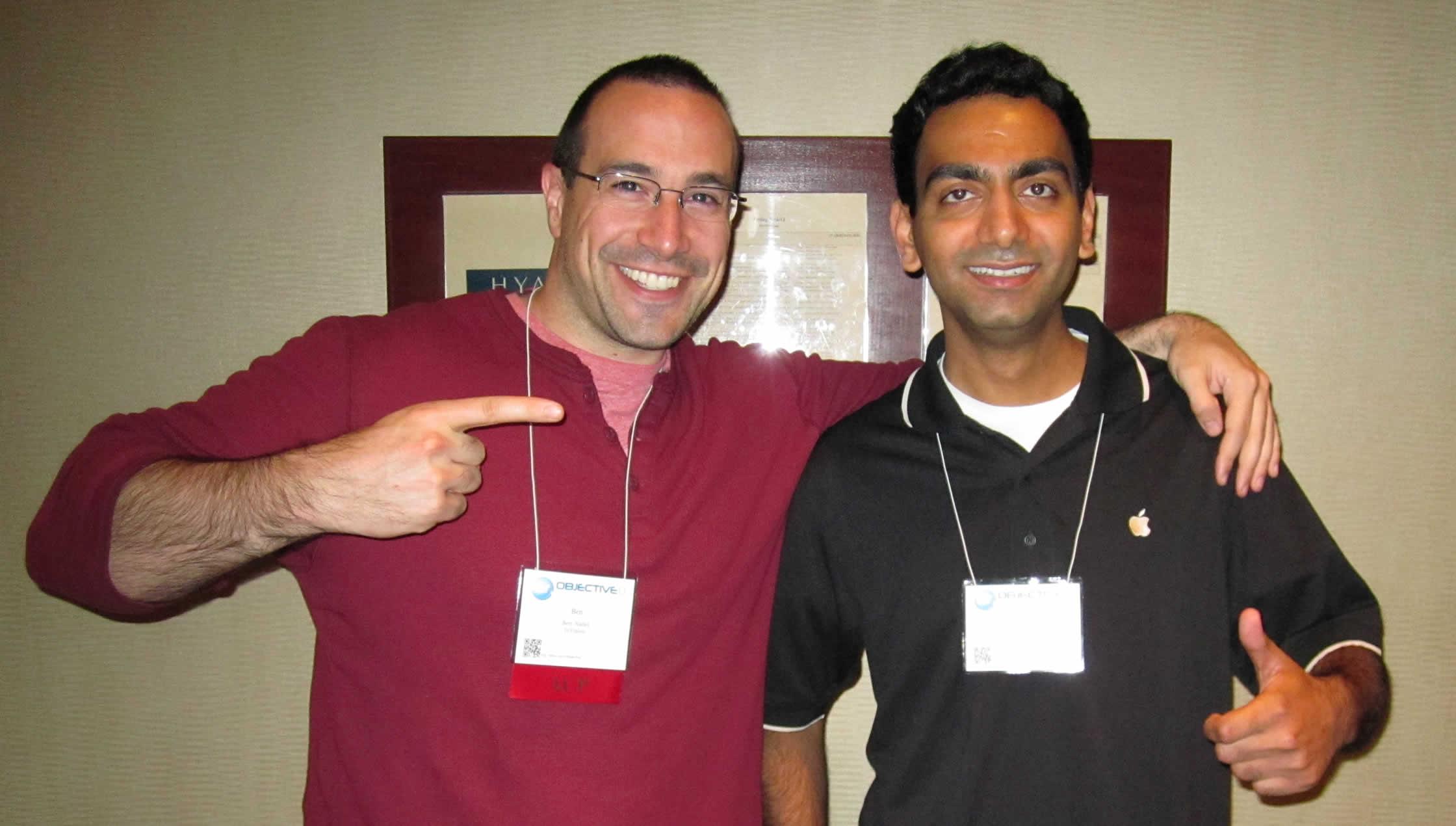 Ben Nadel at cf.Objective() 2012 (Minneapolis, MN) with: Rachit Arora