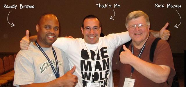 Ben Nadel at CFUNITED 2010 (Landsdown, VA) with: Randy Brown and Rick Mason