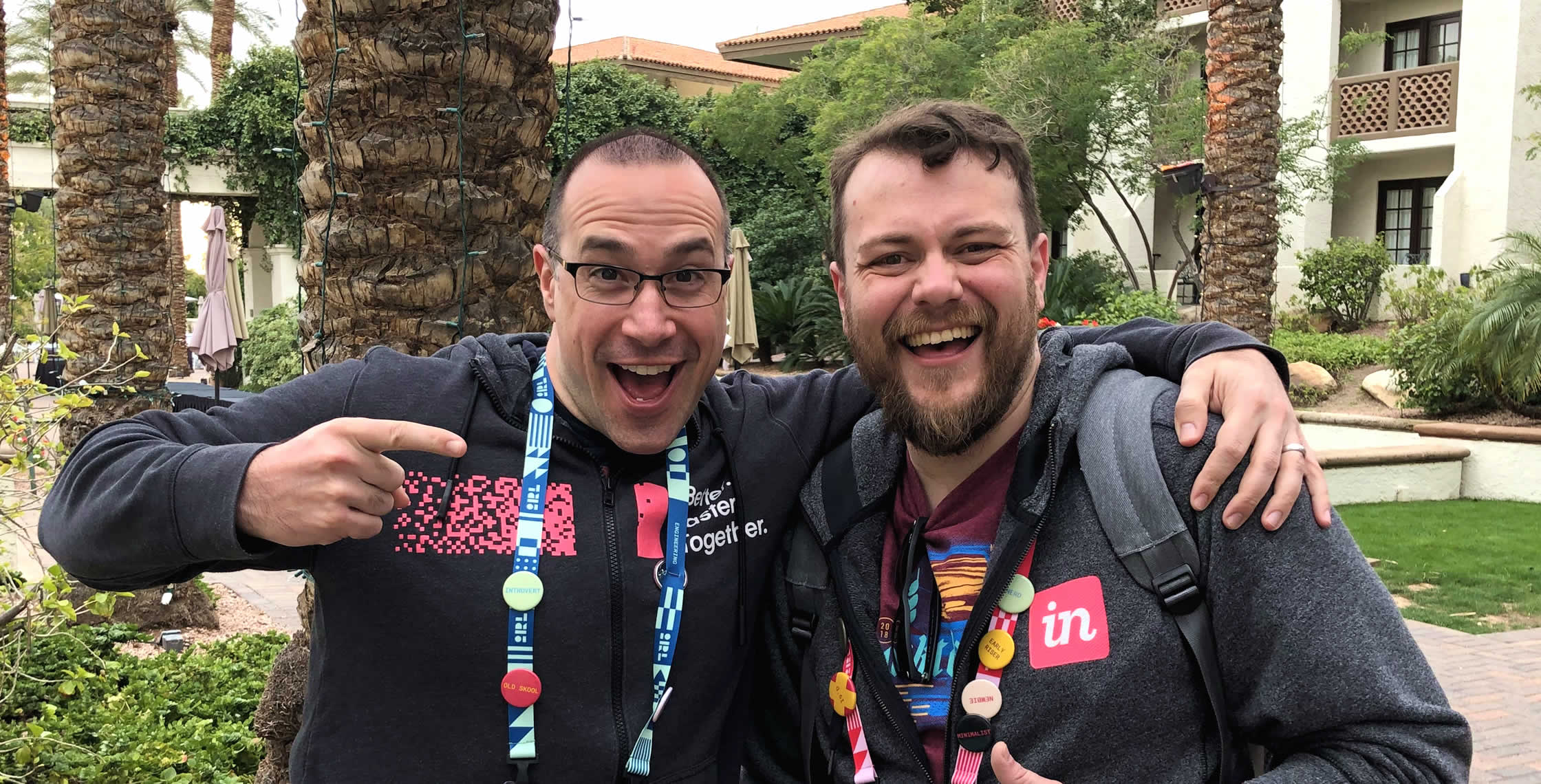 Ben Nadel at InVision In Real Life (IRL) 2019 (Phoenix, AZ) with: RC Maples