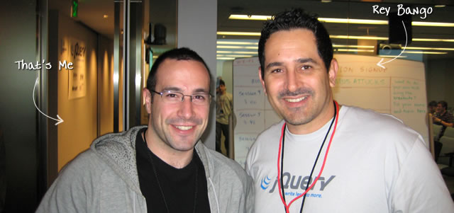 Ben Nadel at the jQuery Conference 2009 (Cambridge, MA) with: Rey Bango