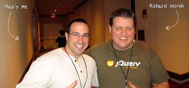 Ben Nadel at the jQuery Conference 2010 (Boston, MA) with: Richard Worth