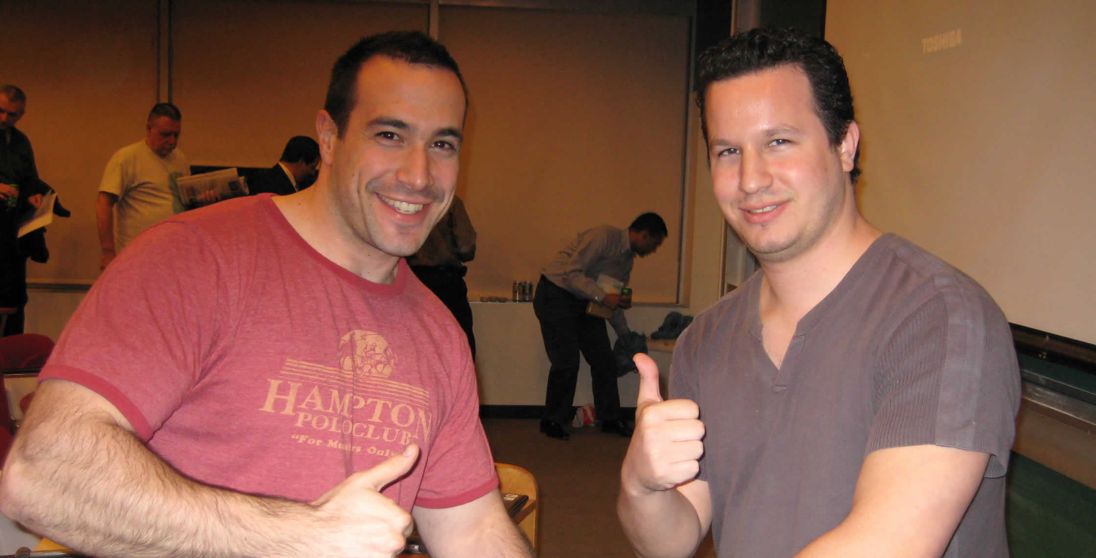 Ben Nadel at the New York ColdFusion User Group (Apr. 2008) with: Rob Gonda