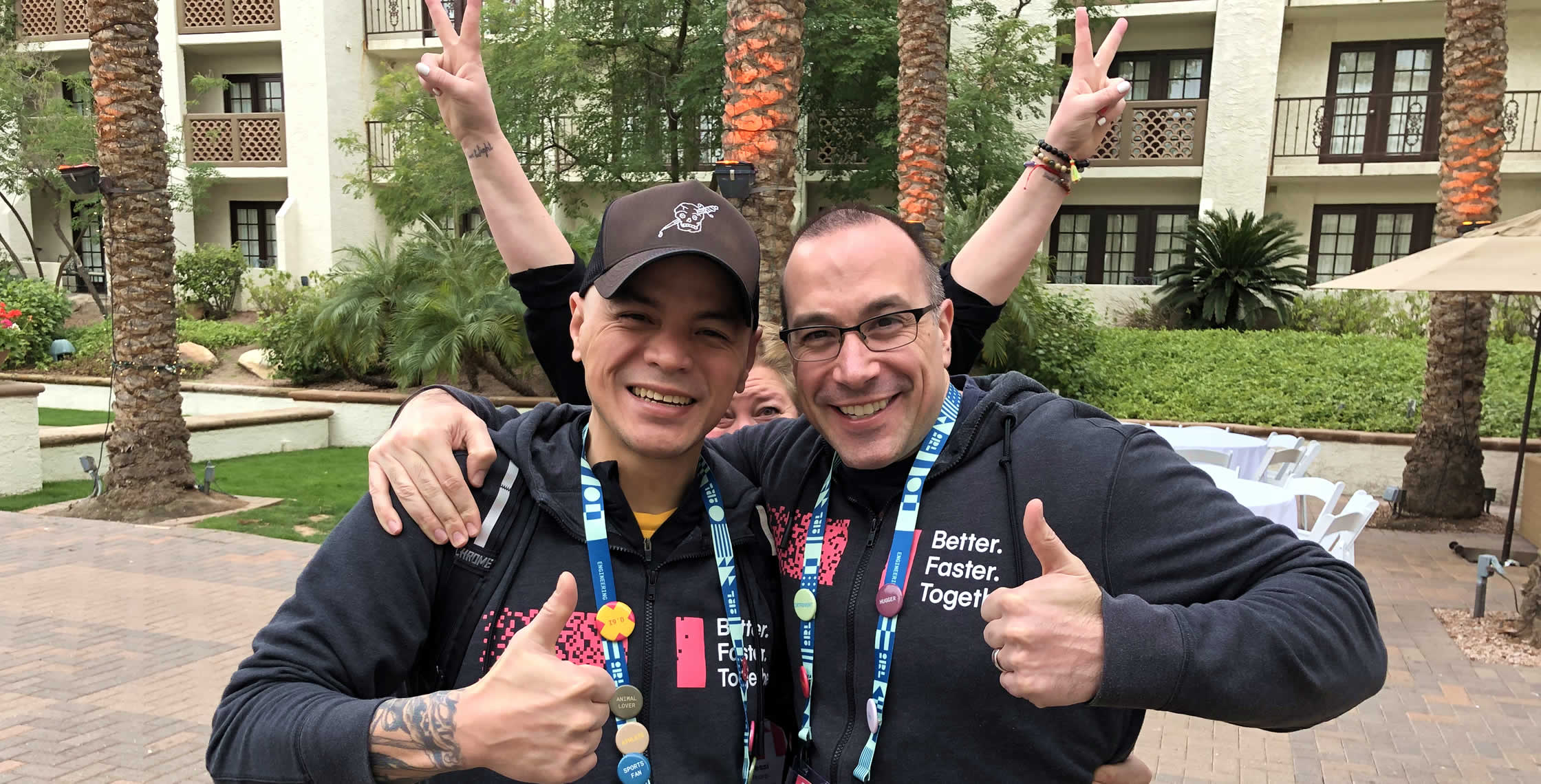 Ben Nadel at InVision In Real Life (IRL) 2019 (Phoenix, AZ) with: Robbie Manalo and Jessica Thorp