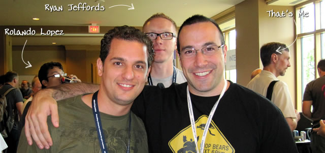 Ben Nadel at CFUNITED 2010 (Landsdown, VA) with: Rolando Lopez and Ryan Jeffords