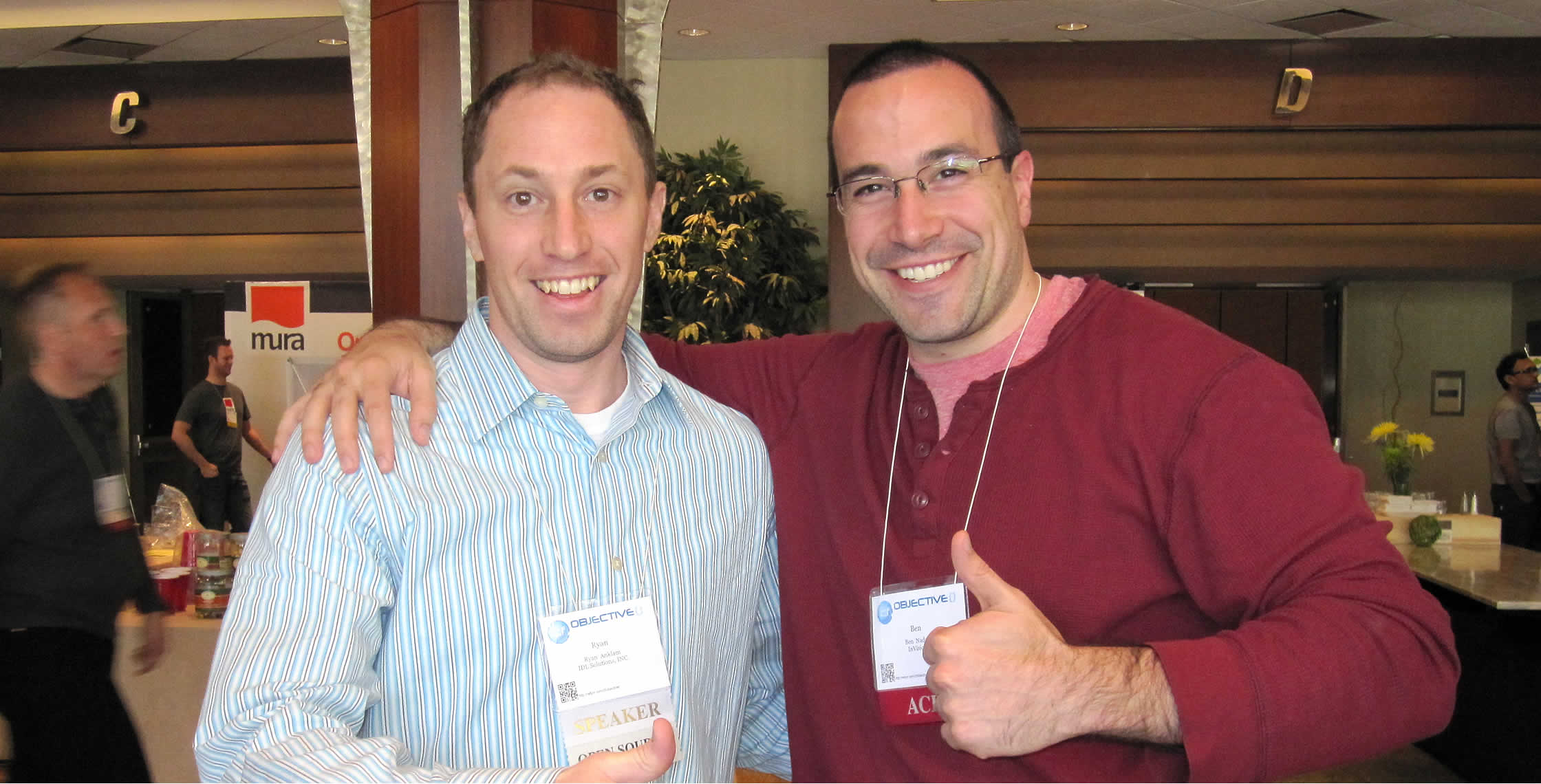 Ben Nadel at cf.Objective() 2012 (Minneapolis, MN) with: Ryan Anklam