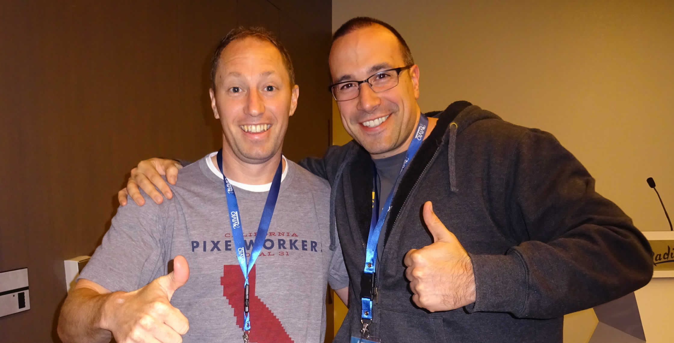 Ben Nadel at dev.Objective() 2015 (Bloomington, MN) with: Ryan Anklam