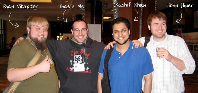 Ben Nadel at cf.Objective() 2009 (Minneapolis, MN) with: Ryan Vikander, Kashif Khan, and John Hiner